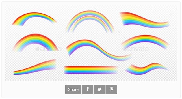 Rainbow Effect Isolated on Transparent Background