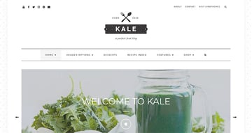 Kale - The Perfect Food and Personal Blog Theme