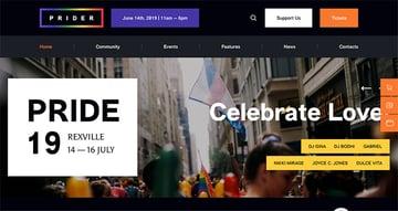 Prider | LGBT & Gay Rights Festival WordPress Theme + Bar