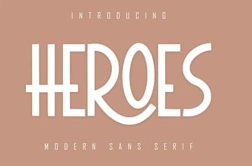 HEROES Bold Sans Serif Fonts