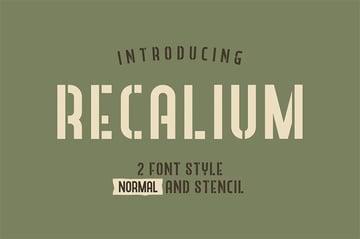 Recalium Stencil Sans Serif