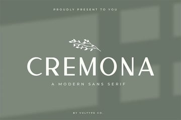 Cremona Popular Sans Serif Font