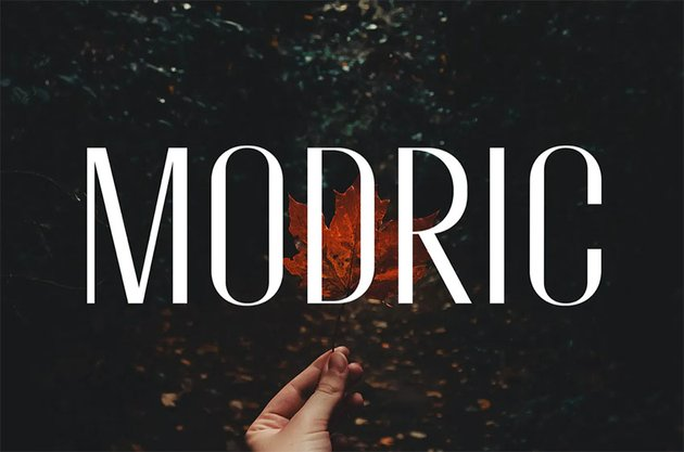 Modric - Condensed Sans Serif
