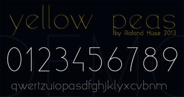 Yellow Peas - Free Sans Serif Font