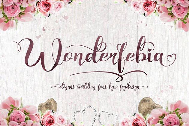 Wonderfebia - Wedding Script Font