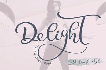 Calligraphy Wedding Decor Font Delight
