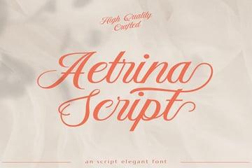 Aetrina Elegant Display | Wedding Font