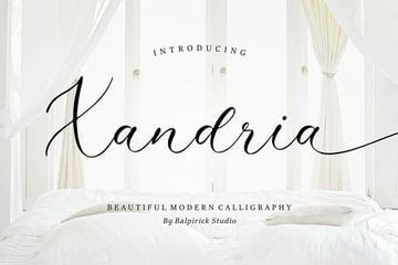 Xandria Popular Wedding Font