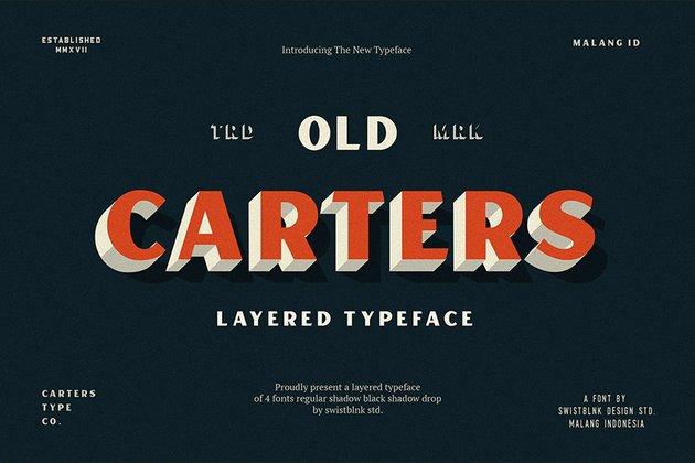 Carter Layered Sans Serif Font