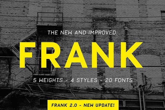 Frank Sans Serif Font Family