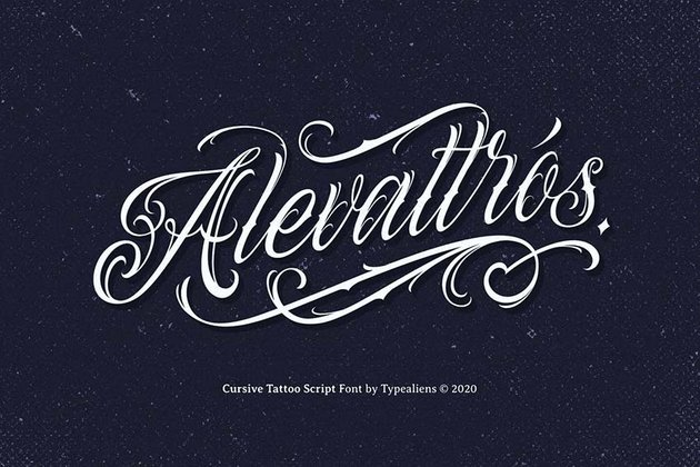 Alevattros - lettering tattoo font