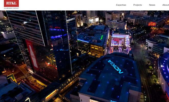rtkl architects designers firm website layout