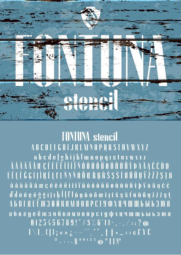 Fontuna stencil Free Font