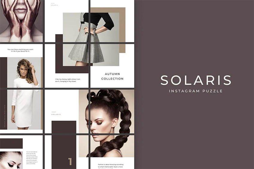 Solaris Instagram Puzzle Layout Template