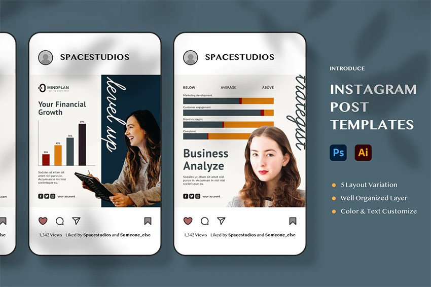 Instagram Post Layout Template