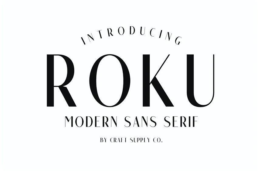 Roku - Modern Sans Serif Fonts
