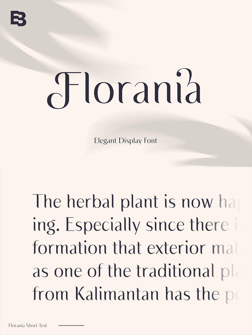 Florania font similar to garamond elegant luxury web display