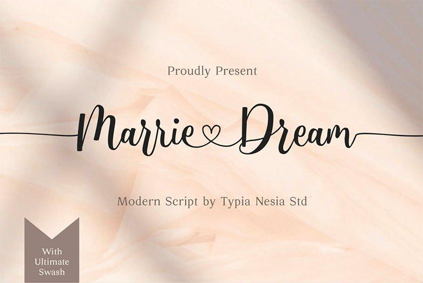 Marrie Dream - Wedding Invitation Font