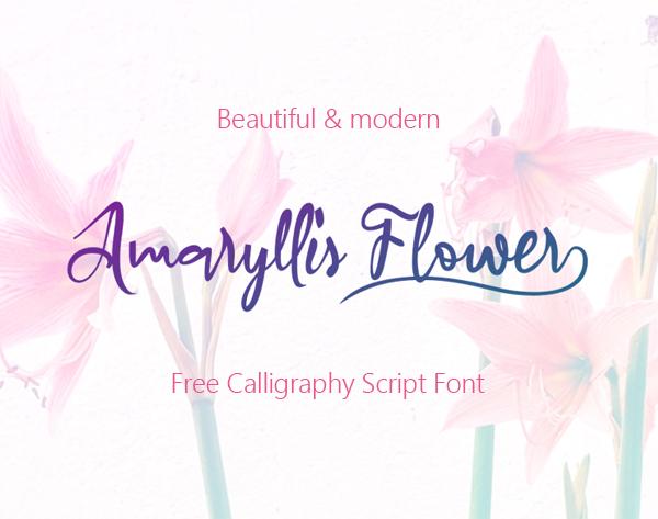 Amaryllis Flower Free Font