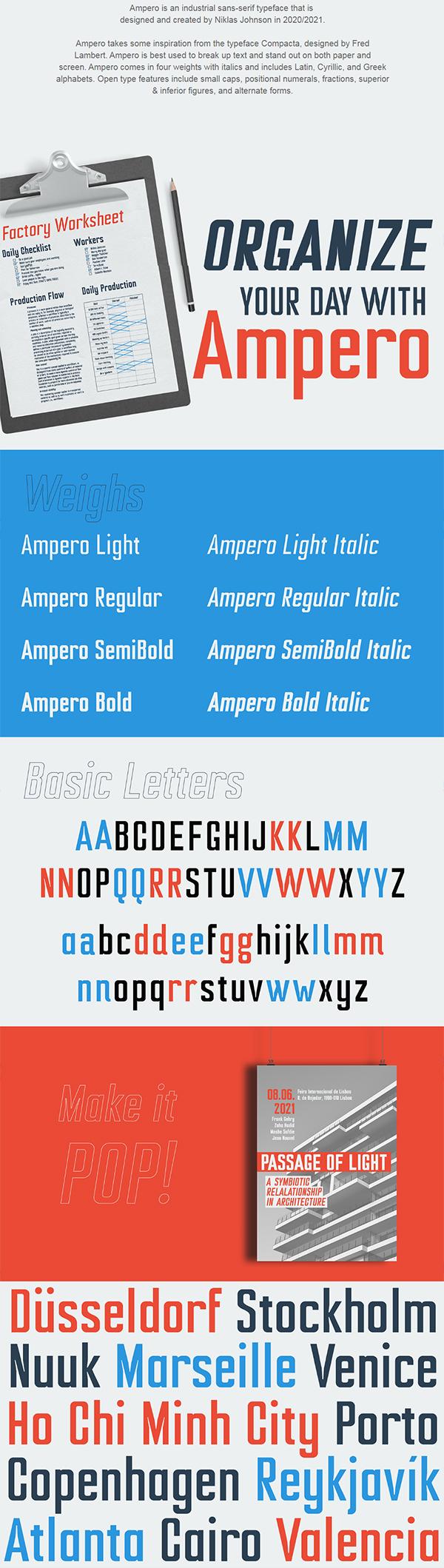 Ampero Font