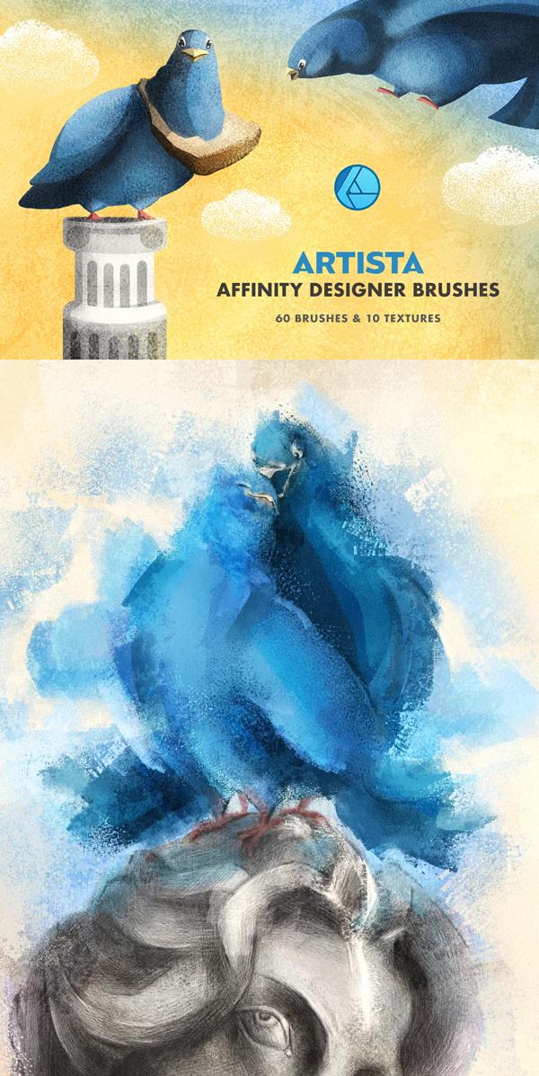 Artista Affinity Designer Brushes