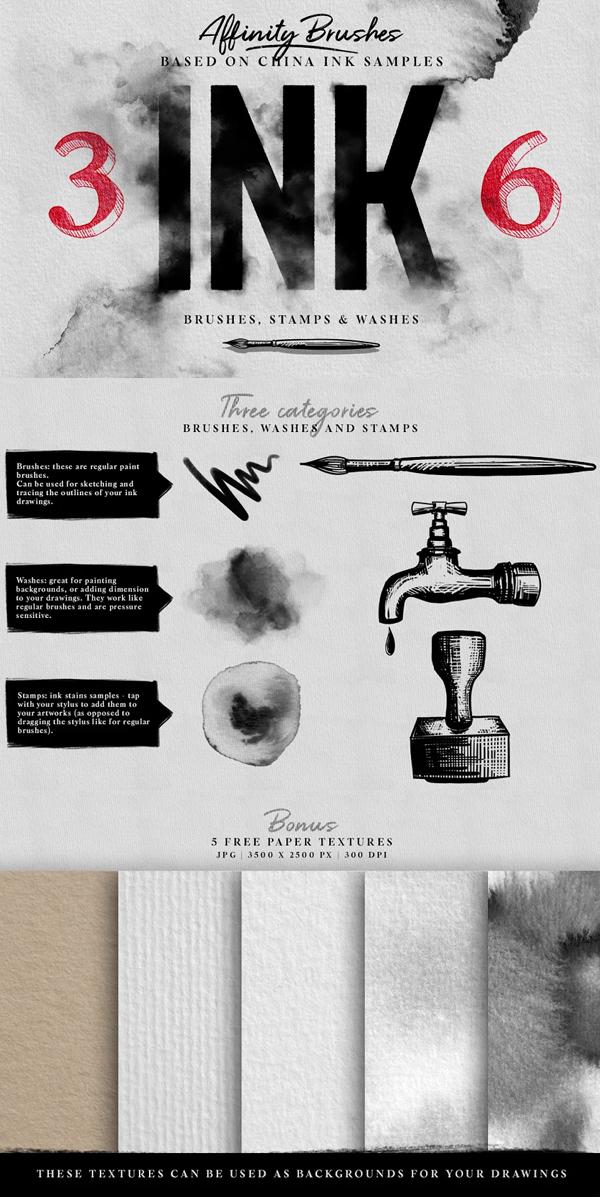 Affinity Ink Brushes