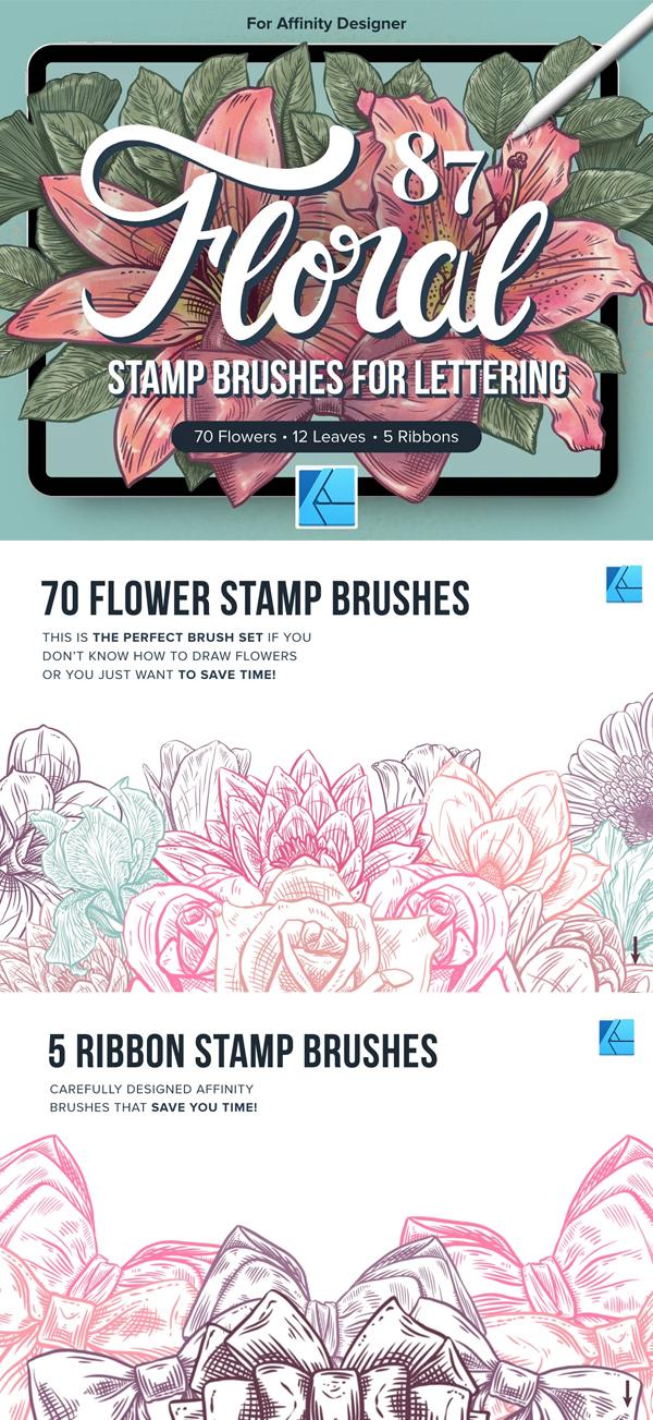 87 Floral Affinity Stamp Brushes