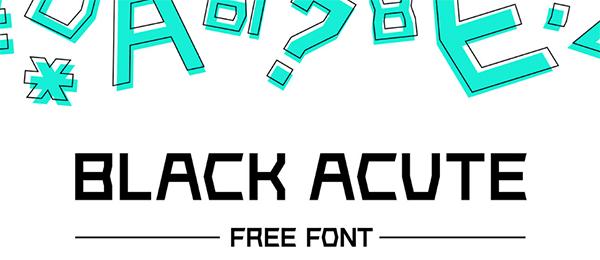 Black Acute Free Font