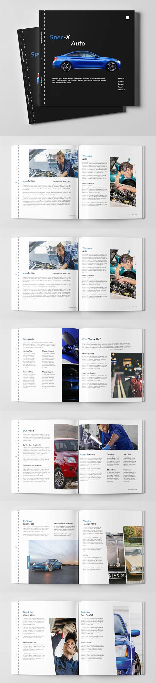 Spec-x Auto Brochure Square Template