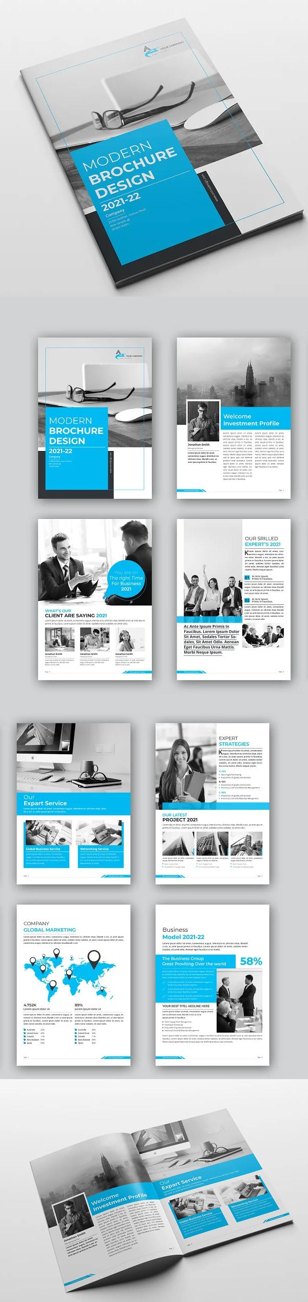 Modern Brochure Design 12 Pages