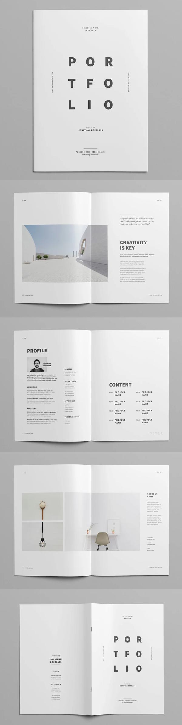 Minimal Portfolio Design Template