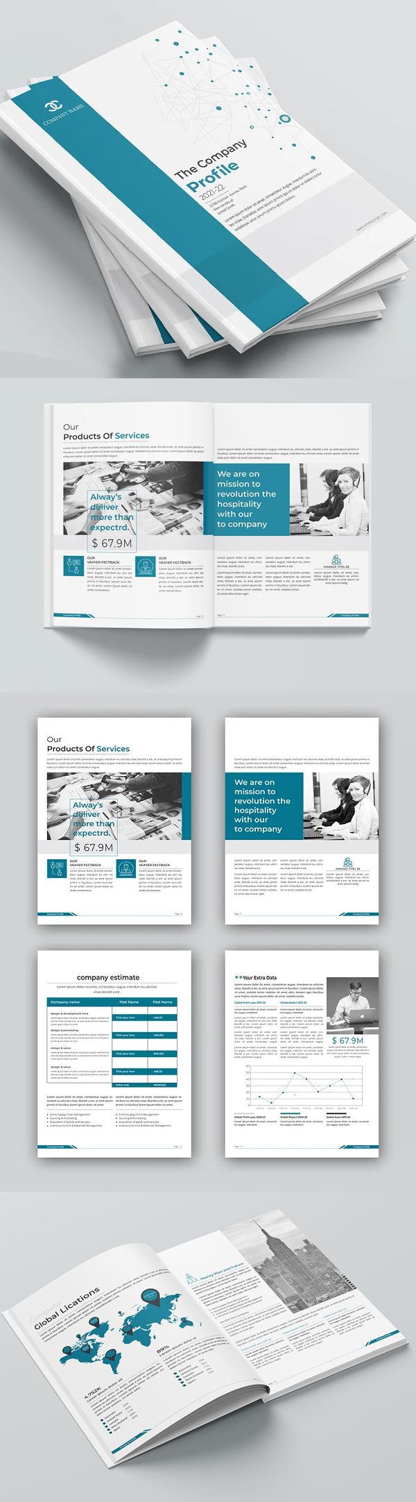 Company Profile 2021 Brochure / Catalog Template