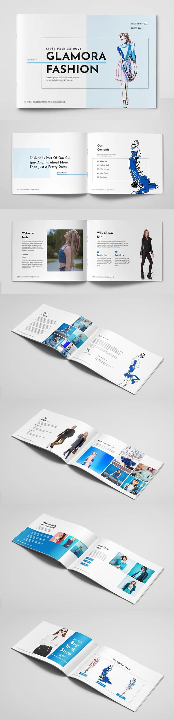Glamour Fashion Brochure A5 Template