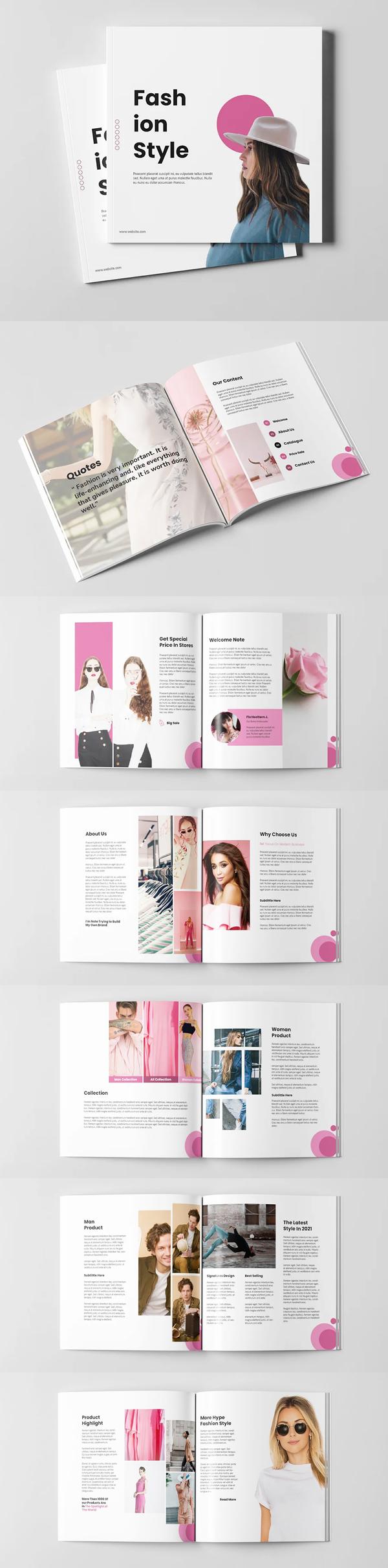 Fashion Brochure Square Template