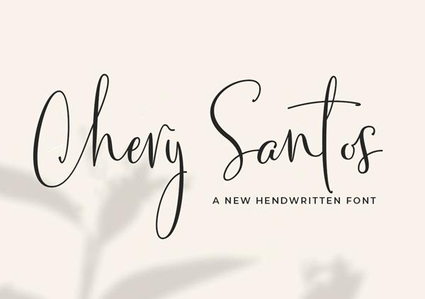 Chery Santos Handwritten Script Free Font