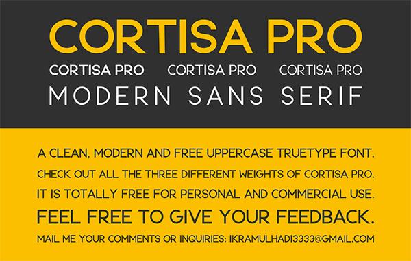 Cortisa Pro Free Font