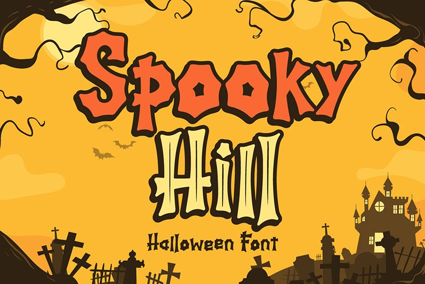 Spooky Hill - Halloween Font