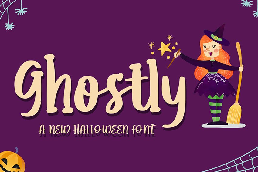 Ghostly - Halloween Typeface