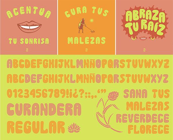 Curandera Free Font