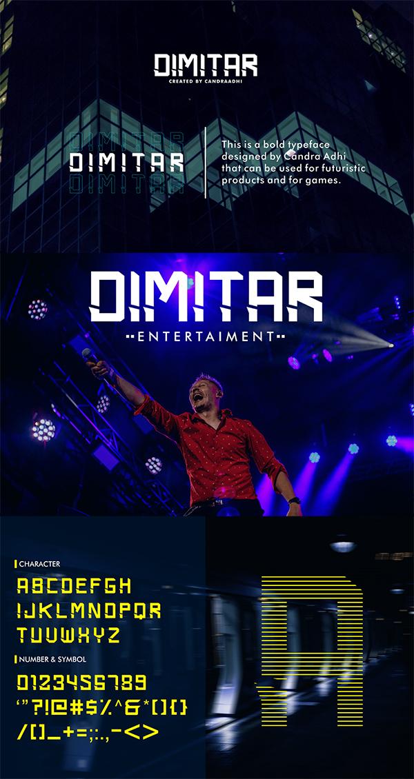 Dimitar Futuristic Font