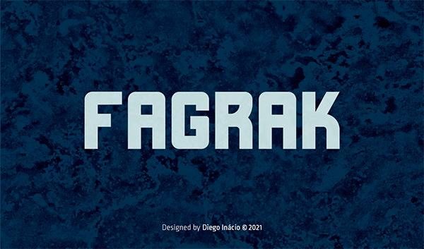 Fagrak Bold Free Font