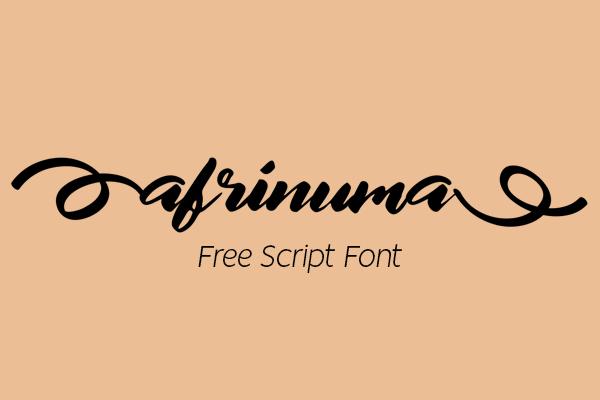 Afrinuma Calligraphy Script Free Font