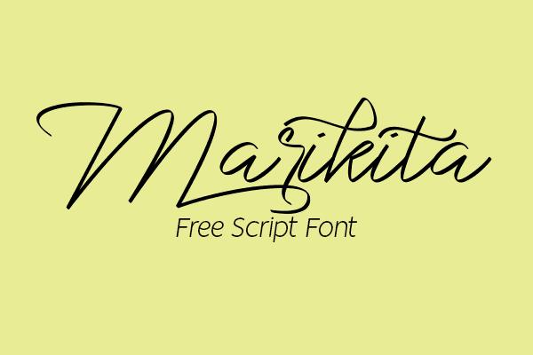 Marikita Signature Script Free Font