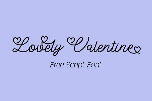 Lovely Valentine Script Free Font