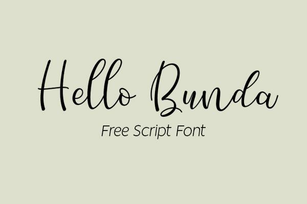 Hello Bunda Bold Script Free Font