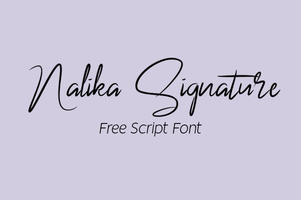 Nalika Signature Free Font