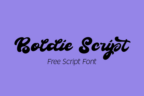 Boldie Script Free Font