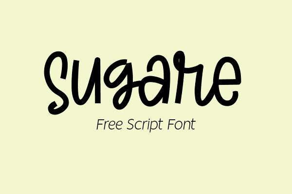 Sugare Script Free Font