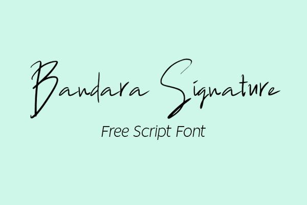 Bandara Signature Free Font