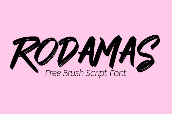 Rodamas Brush Script Free Font
